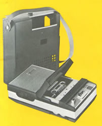 An early Norelco cassette recorder/player