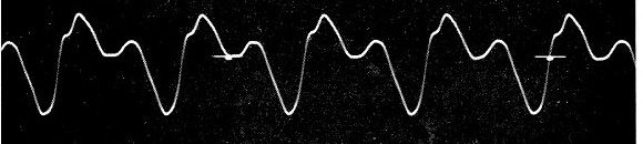 Facsimile of a Phonoautograph tracing
