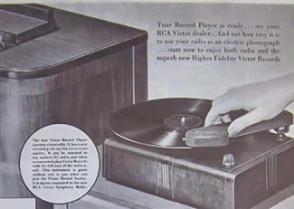 RCA record player of the 1940s