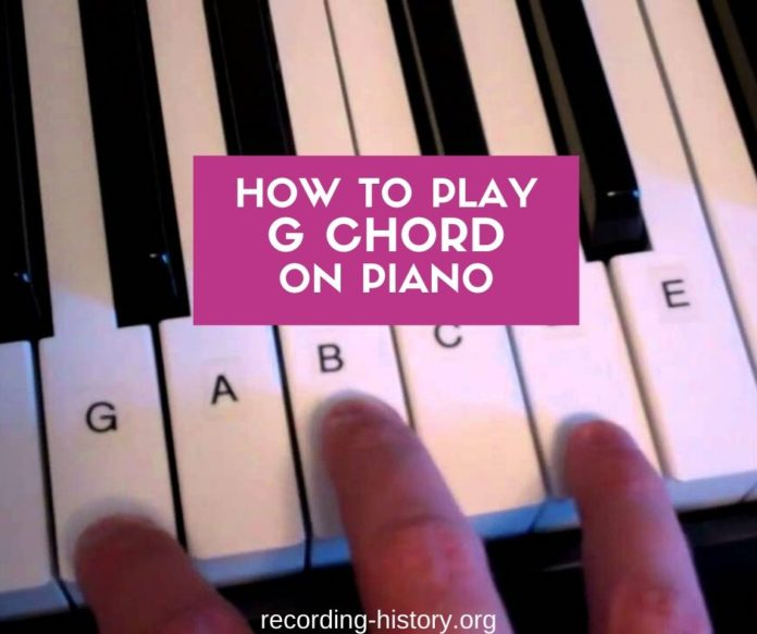 G Chord Piano - How to play G Major chord on Piano